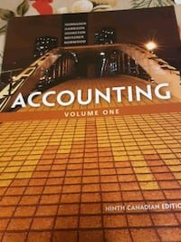 Accounting volume one  Toronto, M2R 3N7