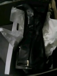 black leather zip-up jacket Silver Spring, 20905