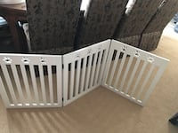 White wooden dog gates