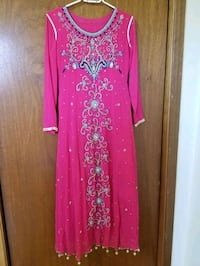 pink and white floral long sleeve dress Toronto, M9V 4P3