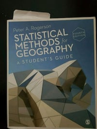 Statistical Methods for Geography Textbook Toronto, M9N 3L1