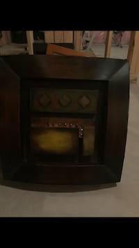 black wooden framed glass cabinet London, N6K