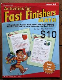 Math activities for fast finishers grades 4-8 Martinsburg, WV, USA