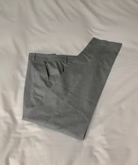 Judith and Charles wool straight leg pants with pockets, size 8. Montréal, H1J