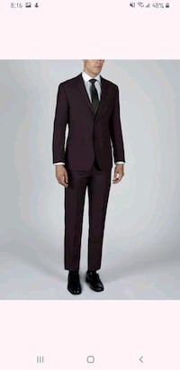 New burgundy suit