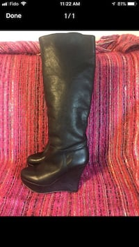 Platform wedge boots size 8.5 Welland, L3B 4K8