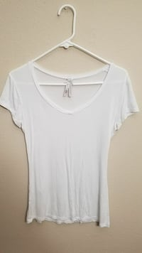 white scoop-neck cap-sleeved shirt Huntsville