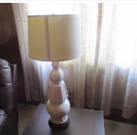 Vintage 1960 white crackle lamp with nice lamp shade. made of ceramic. good condition. it is at my dads hemet house but i can bring it to riverside Riverside, 92508
