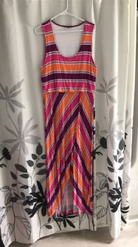 Women's striped maxi dress with front slit South-West Oxford, N4S 0B8