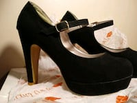 "Blk. Suede Stilettos by ""Two Lips"""