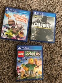 three assorted PS4 game cases El Paso, 79924