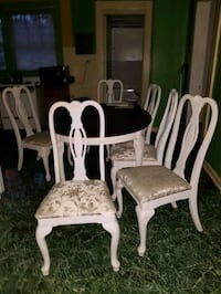 6 Piece Wood Dinnet Set With Buffet. No Trades SERIOUSLY INQUIRY ONLY