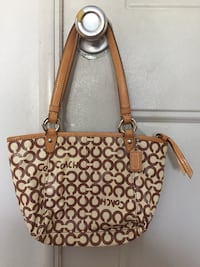 Brown and beige leather tote bag Miramar, 33027