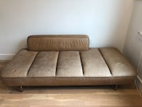 Lawndale Saddle Leather Day Bed w/ Brass Base   New York, 11221