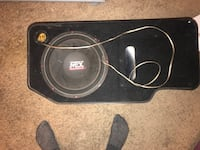 Mtx subwoofer and amp