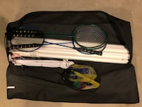Badminton set with carrying case.