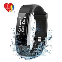 New Fitness Band Tracker Smart Watch Heart Rate Steps Calories Sleep Pedometer GPS 14 Sport Modes 4 Watch Faces Waterproof for Kids Women Men Android & iOS  	•	Fitness tracker collects: heart rate, blood pressure, steps taken, distance traveled, calories  Mont-Royal, H3R 1G7