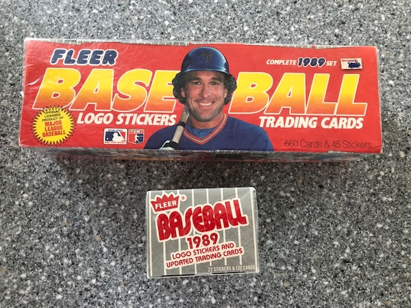1989 Fleer Baseball Factory Sealed Set With Update Baseball Cards Griffey Rookie Card