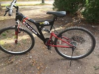 Black and red full-suspension bike Mississauga, L5J 4H2