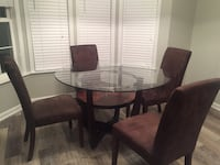 Round glass-top table with chairs Frederick, 21701