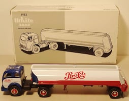 White and red truck toy
