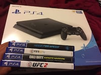 Sony ps4 console with controller box
