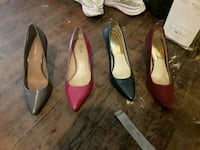 two pairs of red and black pointed-toe pumps Fresno, 93702