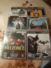 Assorted Play Station Games.  Lot. $5 each.   London, N6C 4W2