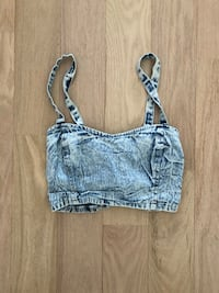 Urban outfitters jean bralette (M)
