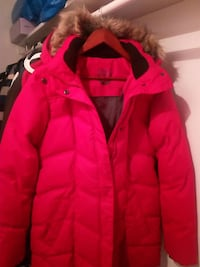 Röd bubbla zip-up parka coat Linköping, 583 34