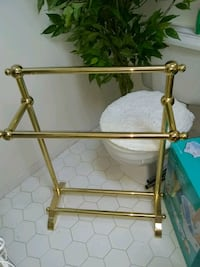 Solid brass floor standing towel rack Alexandria, 22315