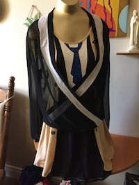 Women's black and white cardigan plus Dress St Catharines, L2T 3N9