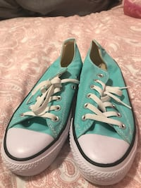 Pair of green converse low-top sneakers Edmonton, T5X 6H2