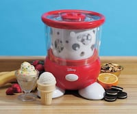 Back to Basics Disney Ice Cream Maker BNIB  Double insulated freezing container Features a locking lid and non-slip rubber feet makes up to 1½ quarts of delicious ice cream, frozen yogurt or other icy desserts in 20 to 30 minutes Requires no ice or salt 1 Toronto