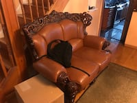 Brown leather recliner sofa chair New York, 11417
