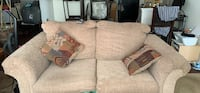 brown fabric 2-seat sofa Owings Mills, 21117