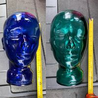 "Vintage 12"" Rare Glass Maniquen Head Spain  $40 ea /$60 4 2 Fremont Fremont, 94555"