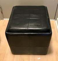 """Otterman seat / cube - faux leather with tray top 18"""" x 18"""" x 19"""""""