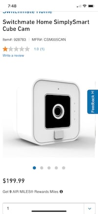 Simply smart cube Security video camera. Or Trade of equal value Toronto, M3H 2Y6