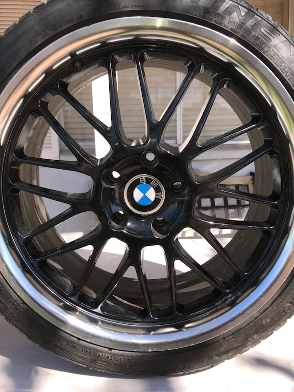 Black Gloss 225 19 Size Bmw Sport Rims Only Rims No Tires In Well Condition Used They Are Wide Wheels And Only A Size 19 Tire Can Fit This