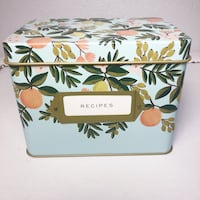 New Rifle Paper Co. Floral Recipe Tin Box with Cards