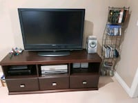 Tv stand solid wood and TV