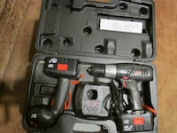 black and red cordless power drill with case Ladner