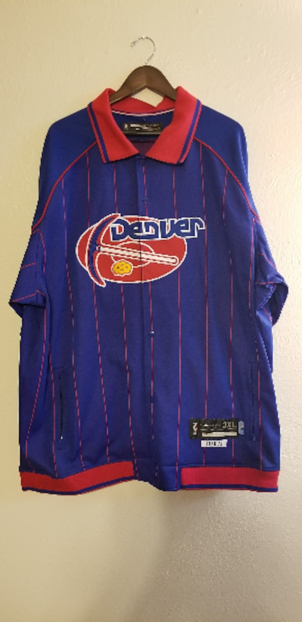 size 40 9748d ac6f3 Reebok Denver Nuggets Throwback Warm Up 3XL Tall