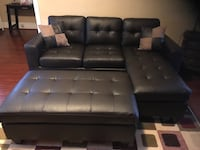 Brand new expresso bonded leather sectional sofa with ottoman Silver Spring, 20902