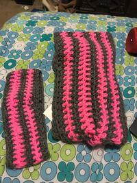 two gray-and-pink knit headbands Hillsboro, 97123
