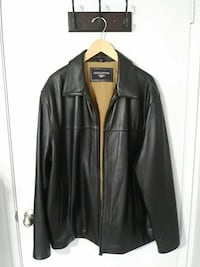 black leather zip-up jacket Pomona, 91768