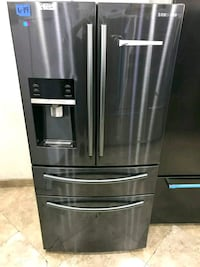 New Samsung black stainless steel four door french Santa Ana, 92703