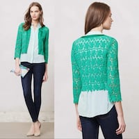 Anthropologie green lace cardigan - Size M Cambridge