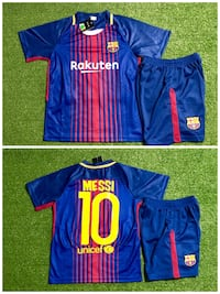 Barcelona # 10 Messi Soccer uniform jersey & short Youth Small ( Size 10 ) New Miami, 33187